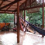 second floor hammock area