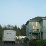 Sounds of the Sea RV Park - entrance and owner's house
