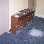 Hallway air conditioner graveyard