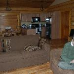 Living area of our Alpine Meadows cabin