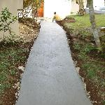 The new concrete path to our room