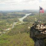 Chimney Rock view of Lake Lure