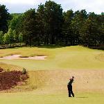 Golfer on Spey Valley Golf Course