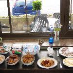 Wonderful breakfast with Sardinian ham