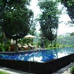 swimming pool at morning