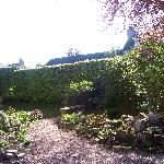 One of the garden areas