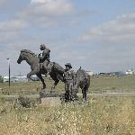 The Pony Express statue at the entrance