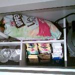 Free chips, tea, coffee