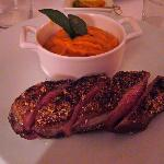Main - Duck breast served medium-rare
