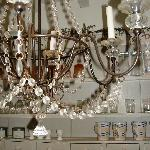Chandalier in Kitchen!!