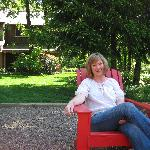 Me enjoying the grounds at the inn