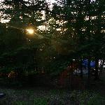 campsite at dusk