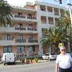 Me in front of the Villa Marina