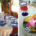 It is hot and it is delicious. Breakfast with a lot of variations. Table that it is clean, and s