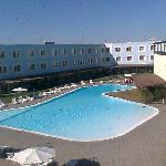 stanza vista piscina