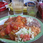 Soft tacos w/extra Santa Ana sauce