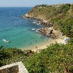 Carrizalillo Beach, from above