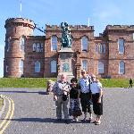 The party of 4 of us outside Inverness Castle