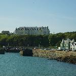 The Hotel's dominating position overlooking the harbour.