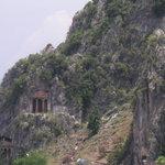 Tombs behind Fethiye