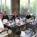 Lobster dinner with Glen, Joan and guests