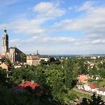 city view (highest church tower in bohemia)