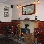 Cosy bar with wood burning stove