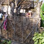 The outside shower - to be recommended