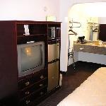Kühlschrank & Mikrowelle war vorhanden