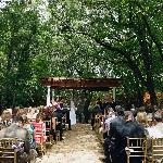 Wedding area with pergola