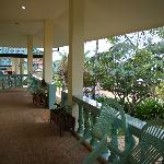The terrace outside of room