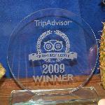 Their Trip Advisor award.