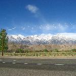 Mount Whitney - the view from outside the motel
