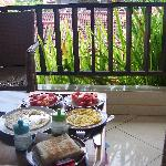 breakfast at balcony