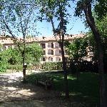 View of rooms' balconies