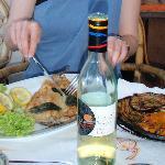 Local fish - laverello - and beautiful vegetables!