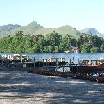 Keswick boat landing stage,Lake District,Cumbria.