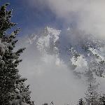 Snow on the peaks.Feb 2009