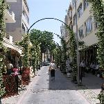 The street outside Hotel Urkmez