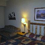 """Living room view of """"Kids Cabin"""", which was great for the kids!"""