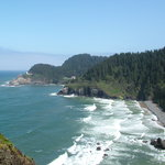 Heceta Head Lighthouse - viewpoint off highway 101