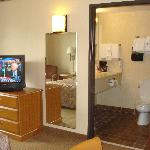 Cable TV and bathroom