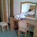 Dressing table in twin room
