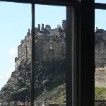 View of Edinburgh Castle from dinig room