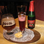 bier de la maison and cherry bier