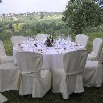 Villa Laurentia garden - wedding reception