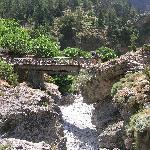 Villaggio di Samaria a metà canyon