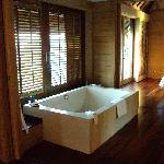 bathtub in bungalow