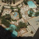 The pool area from the 28th floor
