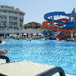 Pool & waterslides